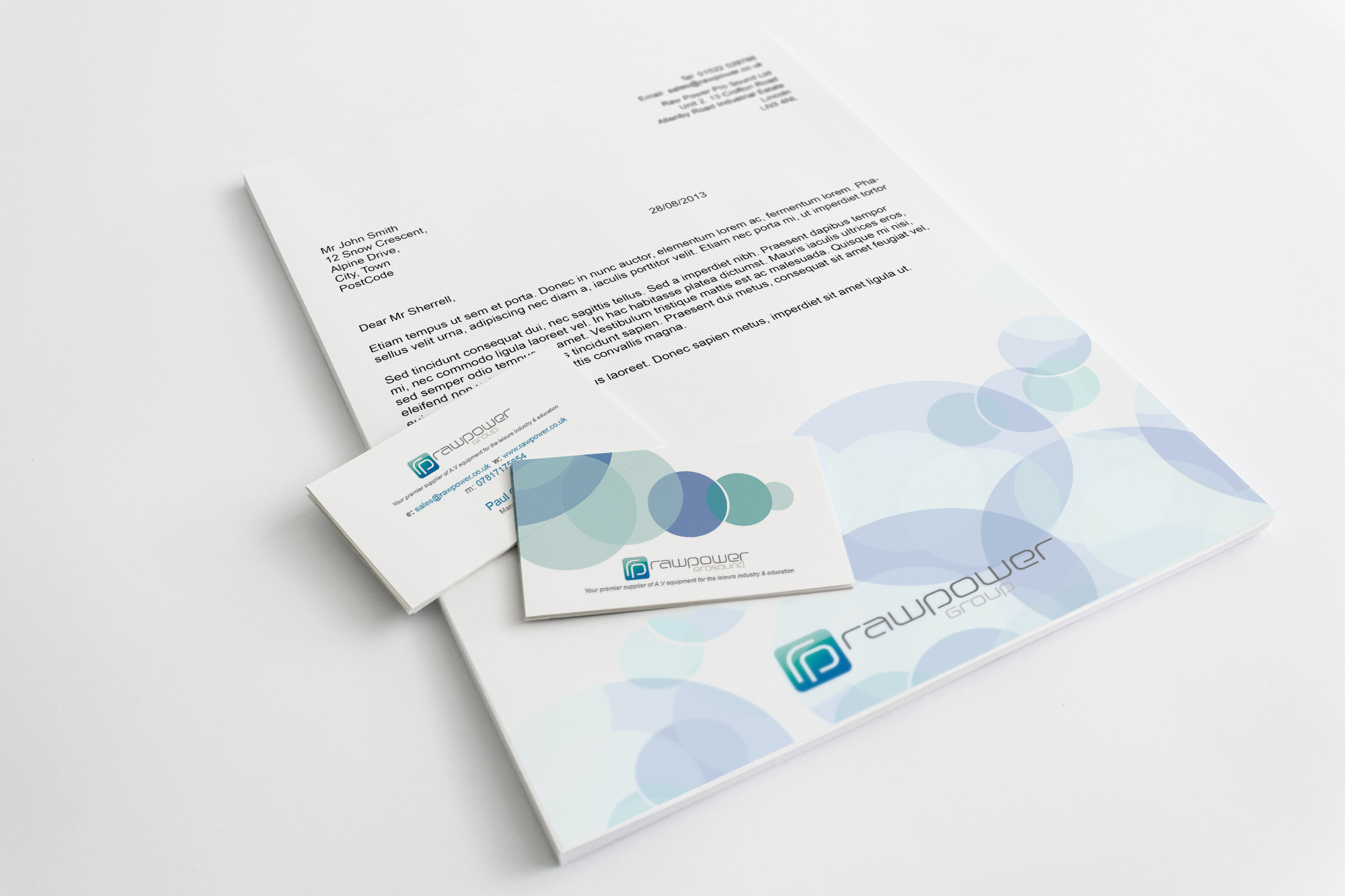Raw Power letterhead-business-cards